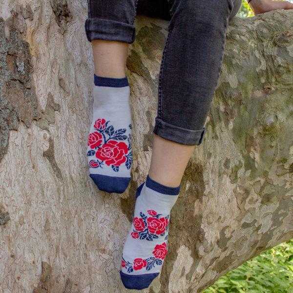 Veselé ponožky Ruže