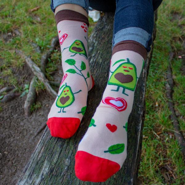 Veselé ponožky POHODKY Avokádo love