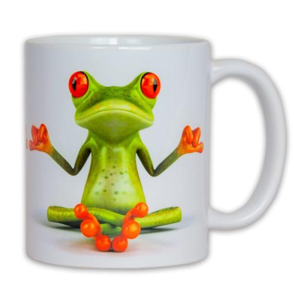 Hrncek s obrazkom žaba