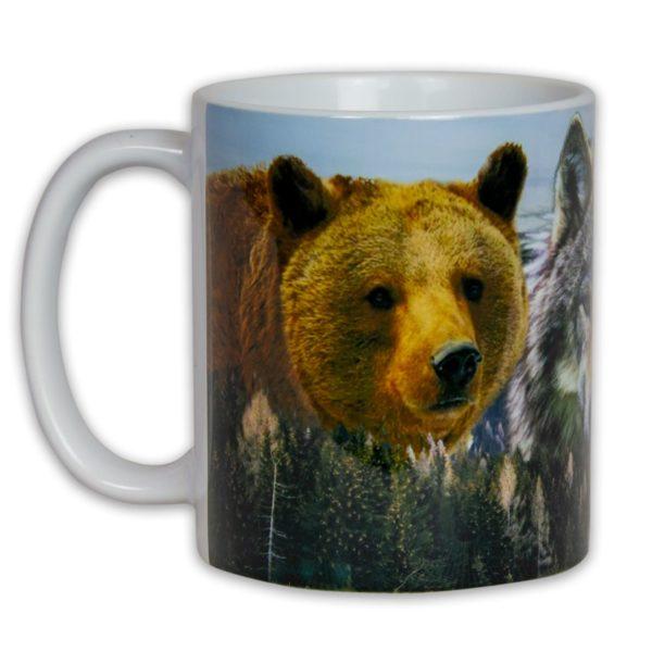 Hrnček s obrázkom - Slovenské Šelmy (Medveď, Vlk a Rys)