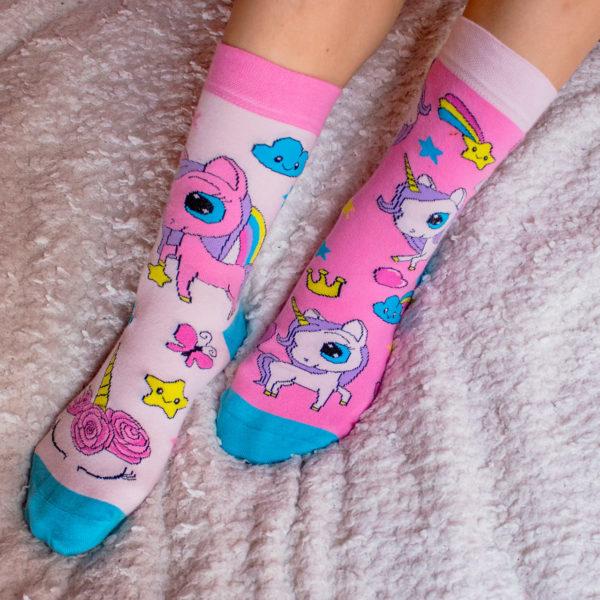 Veselé ponožky POHODKY Unicorn Jednorozec