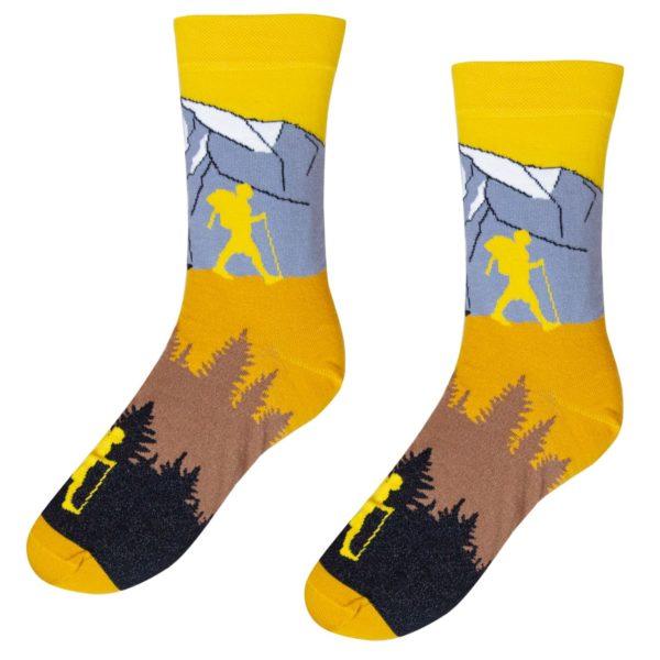 Veselé ponožky POHODKY Turista pod Kriváňom
