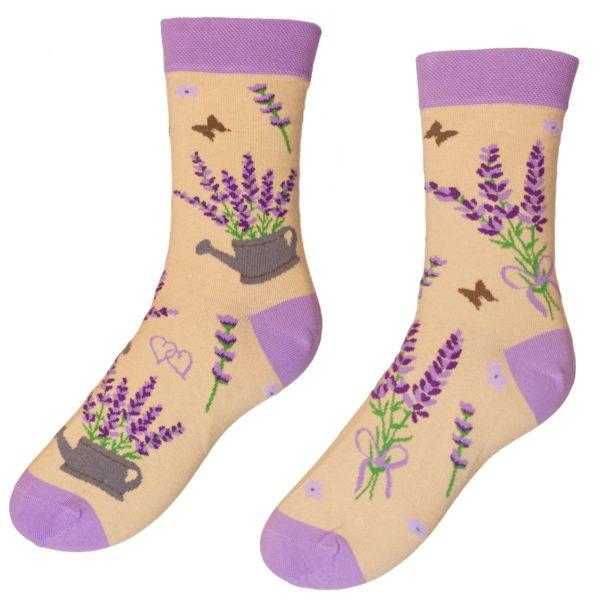 Veselé ponožky POHODKY Levanduľa