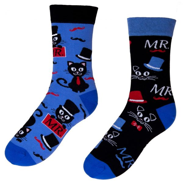 Veselé ponožky POHODKY MR. kocúr