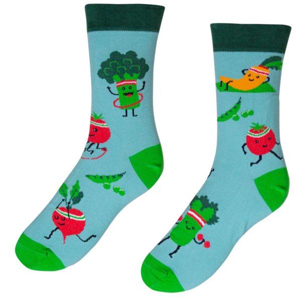 Veselé ponožky POHODKY Fit zelenina