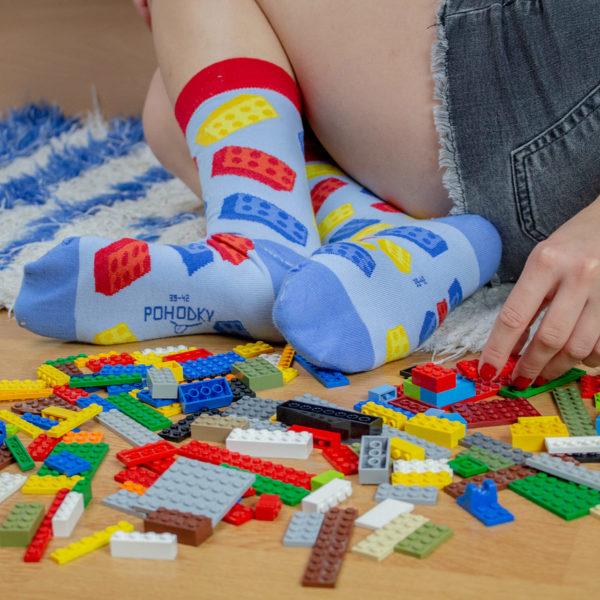 Veselé ponožky POHODKY Stavebnica