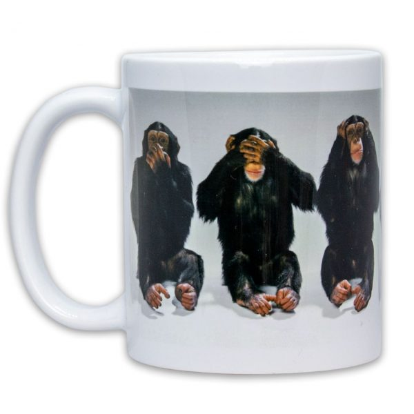 Hrnček s obrázkom - Opičky - Nehovorím, nevidím, nepočujem