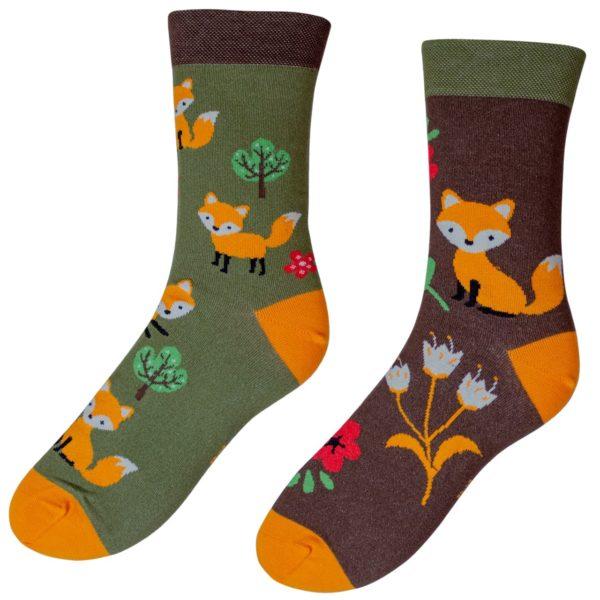 Veselé ponožky POHODKY Líška