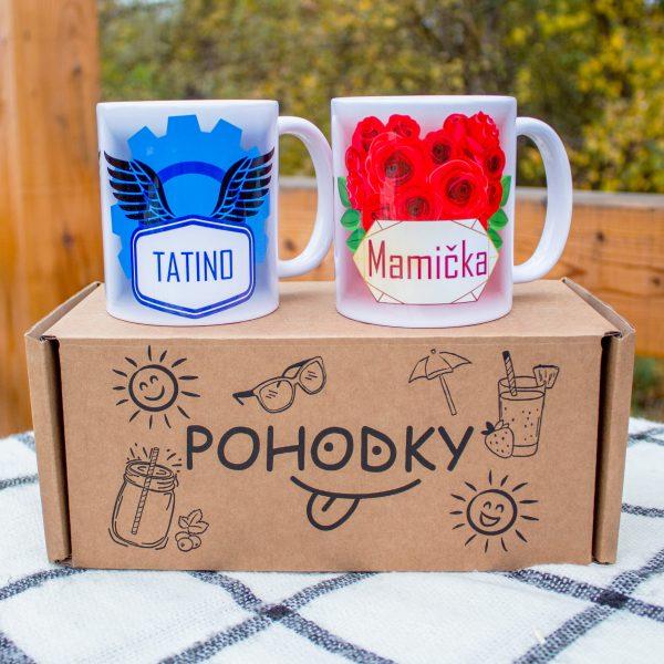 Hrnčeky s obrázkom - Mamička a Tatino