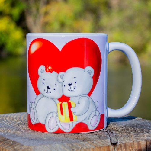 Hrnček s obrázkom - Medvedík Love