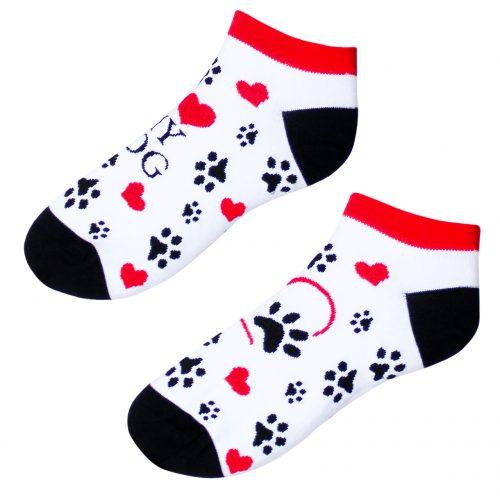 Členkové veselé ponožky – love my dog
