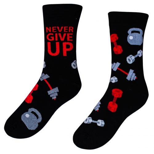Veselé ponožky – Never give up ( Veselé ponožky – Never give up