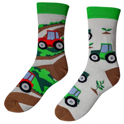 Veselé ponožky – Traktor