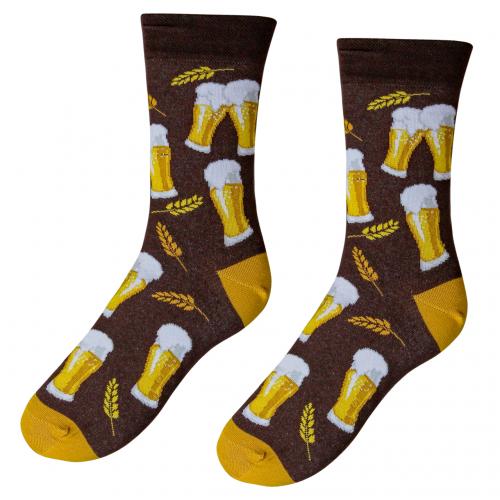 Veselé ponožky S pivom